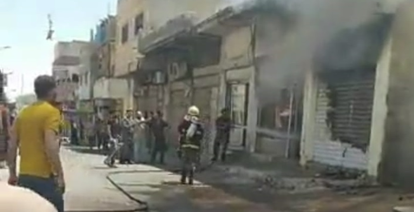حريق مطعم في الرصيفة بسبب انفجار أسطوانة غاز