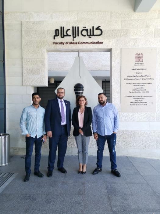 رولا مسعد مدير عام تراكس الاردن تحاضر في جامعة البتراء