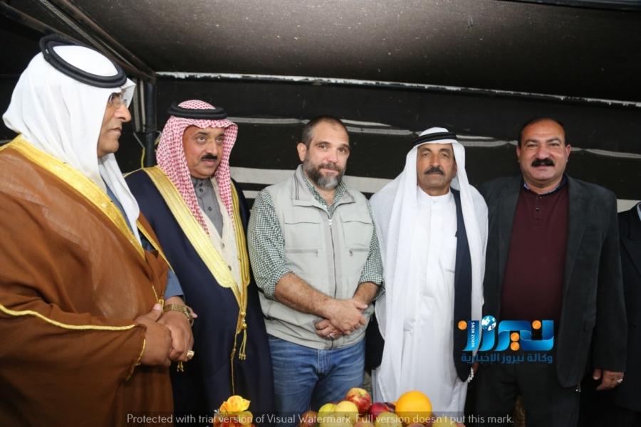 الأمير عباس بن علي في مضارب الشيخ نايف ضيف الله الشرعة