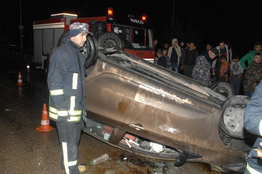إصابة شخصين اثر حادث تصادم في محافظة اربد