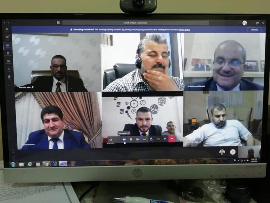 مناقشة رسالة ماجستير في إدارة الأعمال في جامعة جدارا عن بُعد