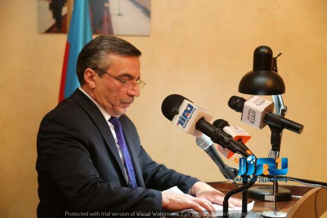 المؤرخ العرموطي يسأل السفير الأذربيجاني عن الاشتباكات الأخيرة على الحدود الإذربيجانية الارمينية.. صور