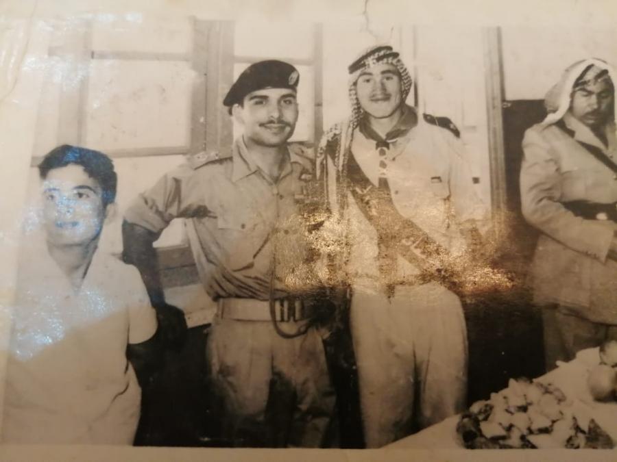 صورة نادرة من ذاكرة الوطنالحسين والحسن في زيارة لمعان بأواسط الخمسينات من القرن الماضي