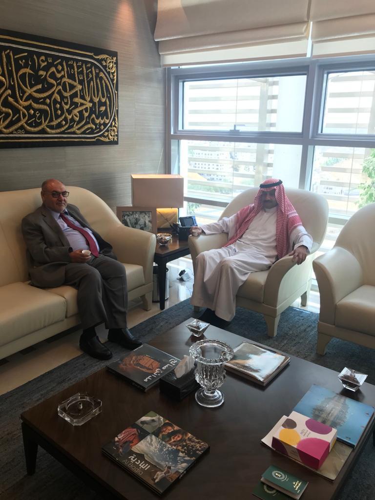 سفير المملكة لدى الأردن يلتقي برئيس الجامعة الهاشمية