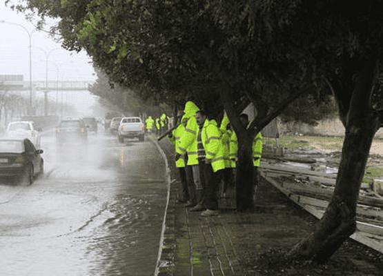 وزارة الاشغال تعلن عن حالة الطوارىء المتوسطة