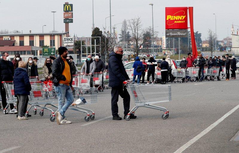 إيطاليا تسجل 274 وفاة و9630 إصابة جديدة بفيروس كورونا