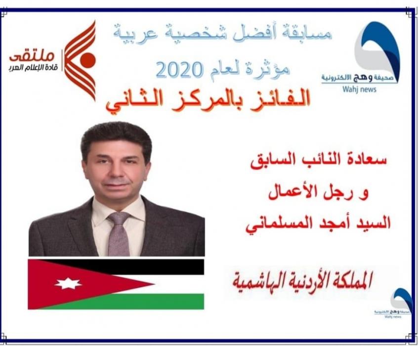 المسلماني الثاني عربيا بمسابقة افضل شخصية مؤثرة لعام ٢٠٢٠