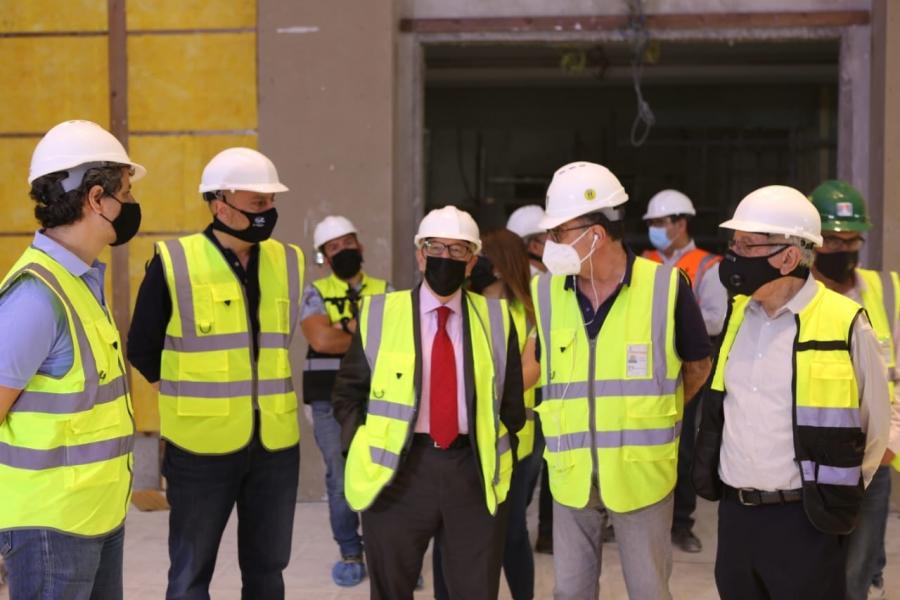 الكسبي يتفقد المشروع الاستثماري فندق وريزيدنس الريتز – كارلتون في عمان
