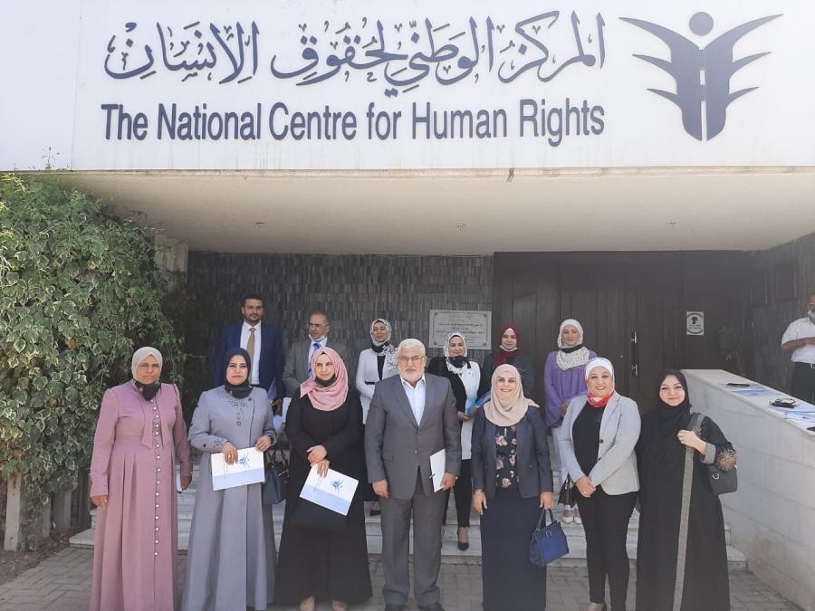 المرأة وشؤون الأسرة النيابية تزور المركز الوطني لحقوق الإنسان