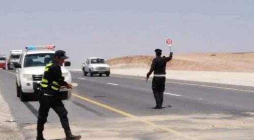 ضبط مخالفة سرعة رادار مرعبة على الطريق الصحراويصورة