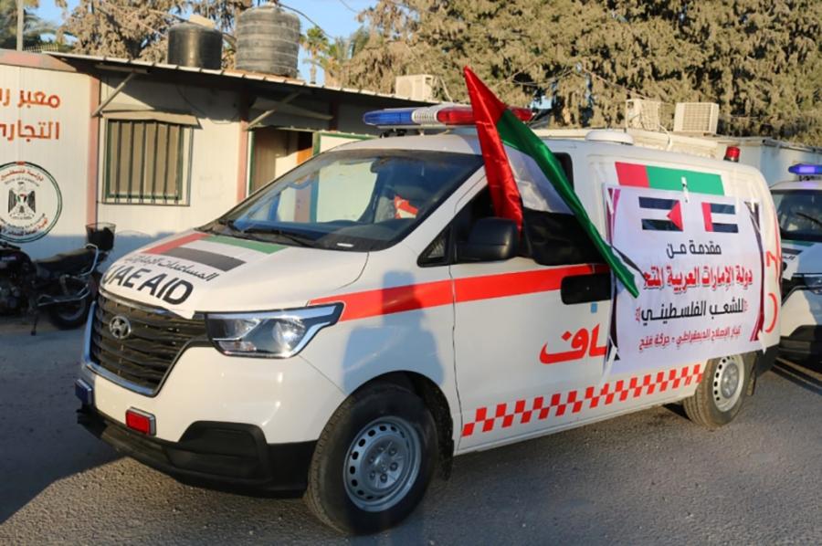 الإمارات.. 20 سيارة إسعاف لدعم القطاع الصحي في غزة