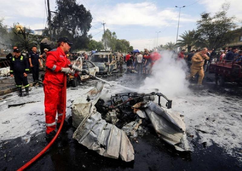 عاجل ...انفجار عبوة ناسفة في سوق شعبي في بغداد