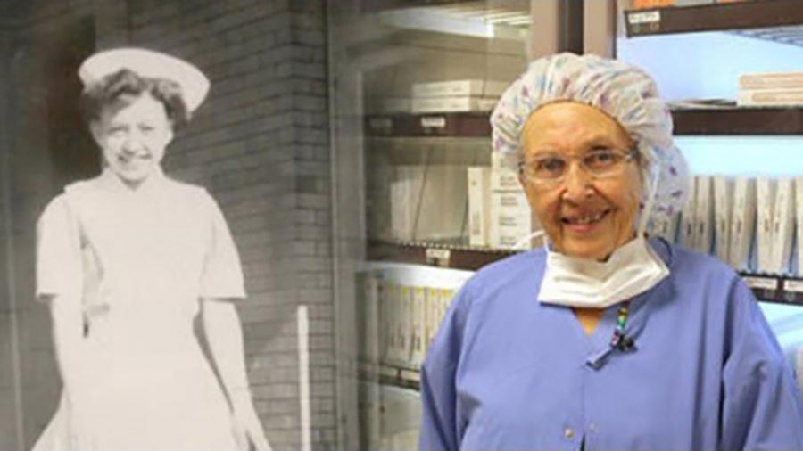 ملاك رحمة تتقاعد في سن الـ 96 بعد 70 سنة من الخدمة