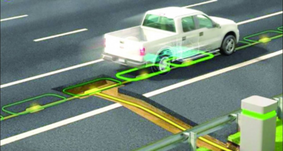 تقنية جديدة لشحن السيارات الكهربائية أثناء سيرها