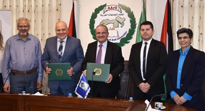جامعة جدارا واتحاد الجامعات العربية يوقعان مذكرة تفاهم حول مشروع تطوير الدوريات العربية