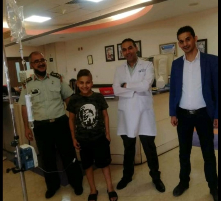 المقابلة يعرب عبر نيروز  عن شكره وتقديره للخدمات الطبية الملكية
