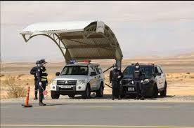 ضبط مركبة تسير بسرعة 208 على الطريق الصحراوي