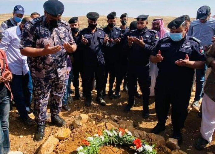 الأمن العام يشيع جثمان الوكيل  خالد العمارين
