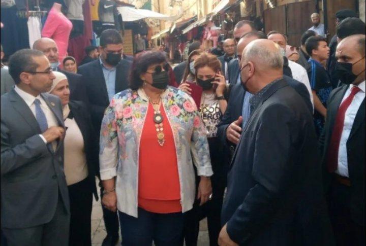 وزيرة الثقافة المصرية تزور مدينة السلط